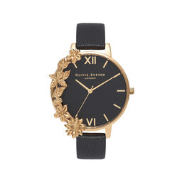 Case Cuff Black & Gold Watch