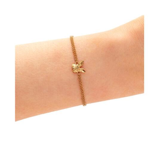 3D Bunny Gold Bracelet