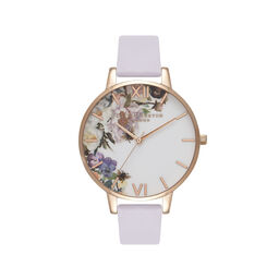 Enchanted Garden Violet & Rose Gold Watch