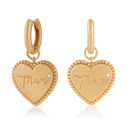 Made for Mum Huggie Hoops Gold