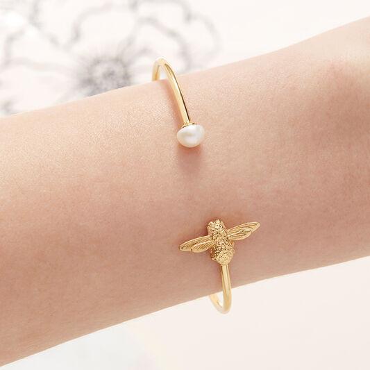 Pearl Bee Bangle Gold