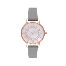 Sparkle Wonderland Midi Grey & Rose Gold Watch