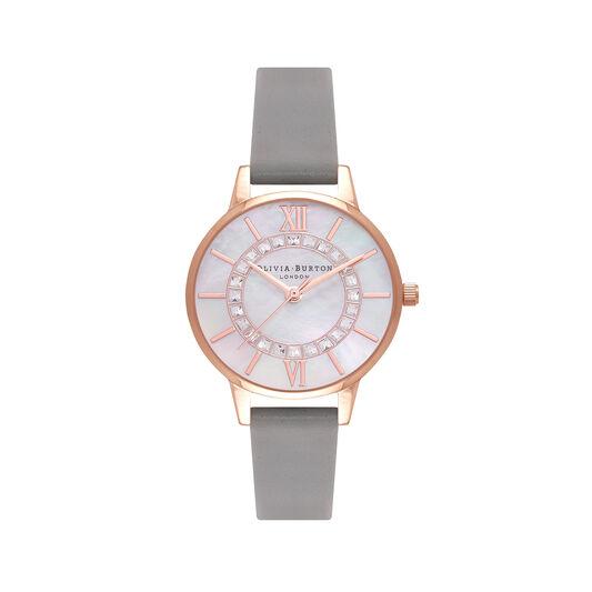 Sparkle Wonderland Midi Grey & Rose Gold Watch