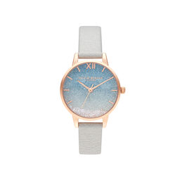 Wishing Wave Glitter and Rose Gold Watch