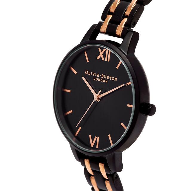 Demi Dial Black & Rose Gold Bracelet Watch