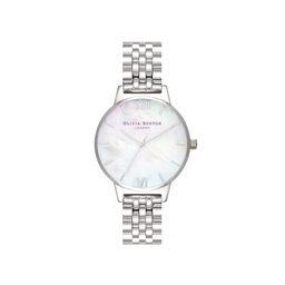 Mother of Pearl Silver Bracelet Watch