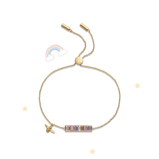 Rainbow Bee Gold Bracelet