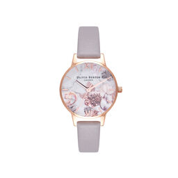 Marble Floral Lilac & Rose Gold Watch