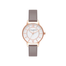 Wonderland Grey & Rose Gold Watch