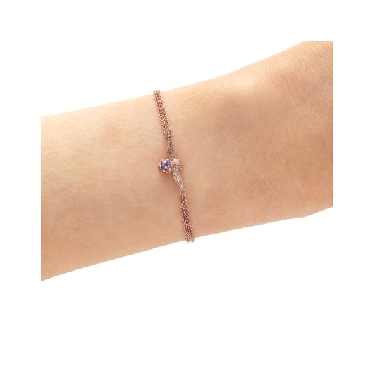 Bejewelled Bee Bracelet Rose Gold & Amethyst