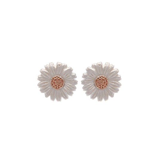 Daisy Stud Earrings Rose Gold