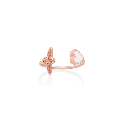 Love Bug Ring White & Rose Gold
