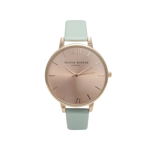 Sunray Mint & Rose Gold Watch