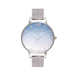 Wishing Wave Demi Dial & Silver Boucle Mesh Watch