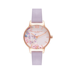 Midi Hummingbirds Parma Violet & Rose Gold Watch