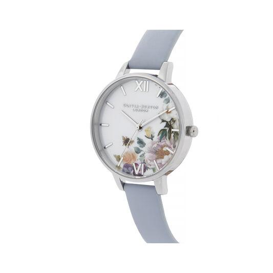 Enchanted Garden Blue & Silver Watch