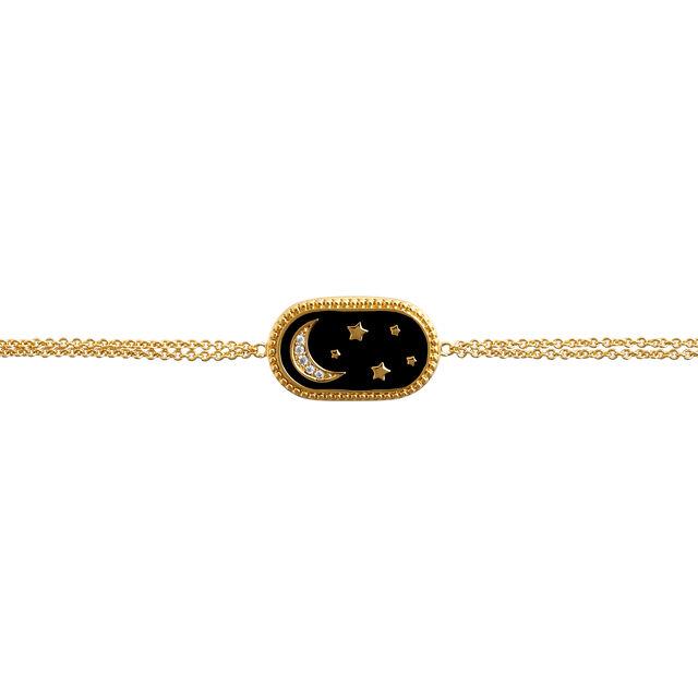 North Star Oval Black & Gold Bracelet