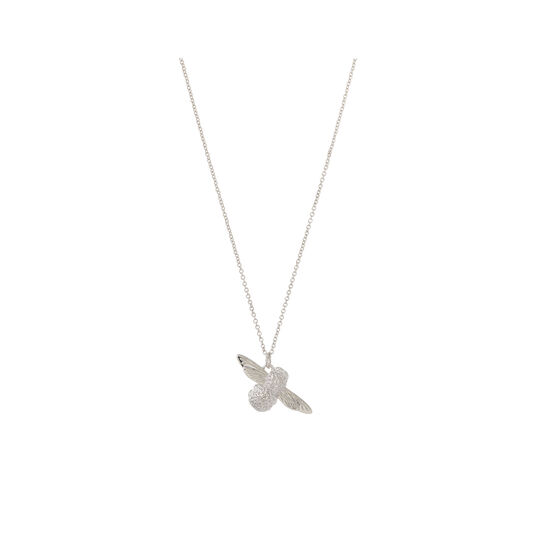 3D Bee Pendant Silver Necklace