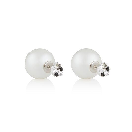 Under The Sea Pearl Back Silver Earrings