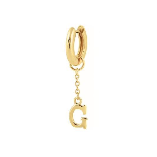 G Huggie Charm Gold