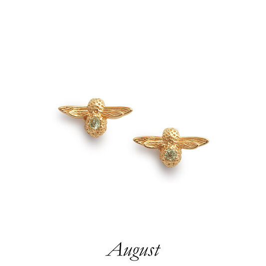 Celebration Gold & Peridot Bee Studs