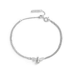 Sparkle Bee Silver Chain Bracelet