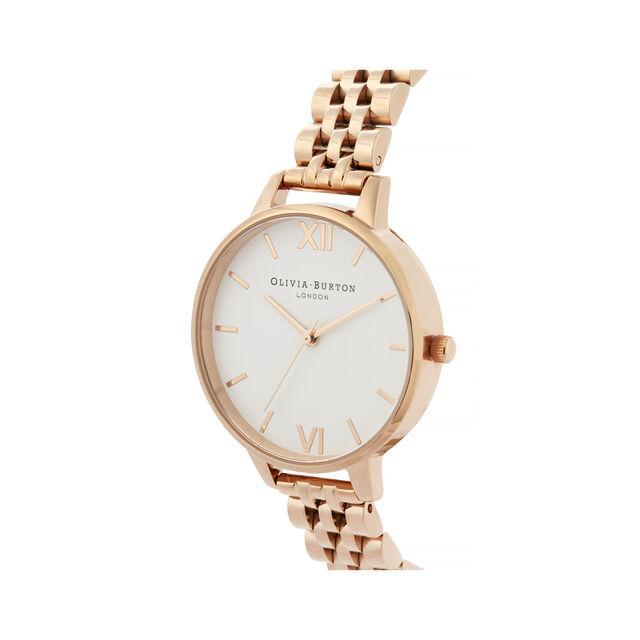 White Dial, Rose Gold Bracelet Watch