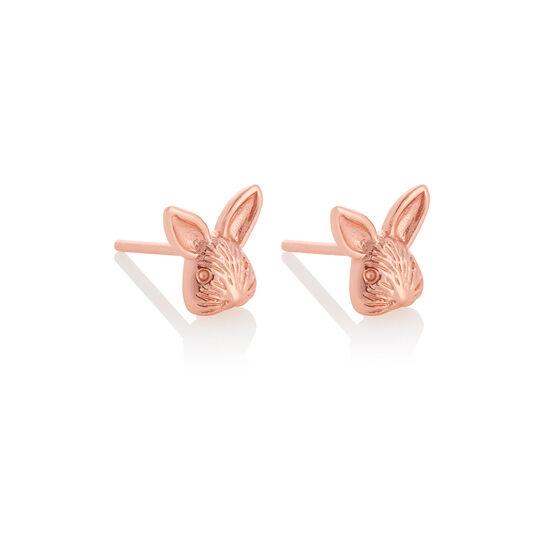 3D Bunny Studs Rose Gold