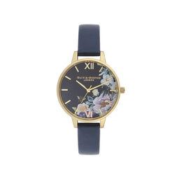 Enchanted Garden Navy & Gold Watch