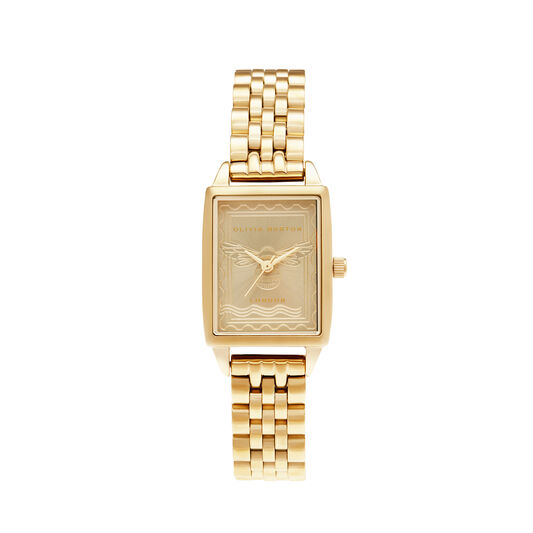 London Stamp Bee Gold Bracelet Watch