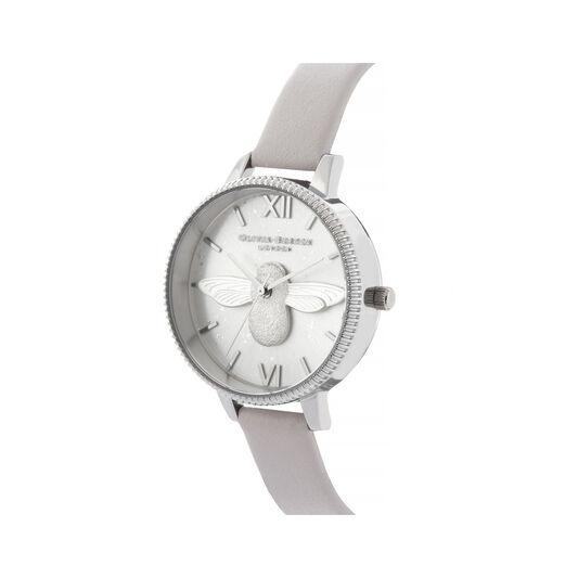 3D Bee Celestial Silver Watch