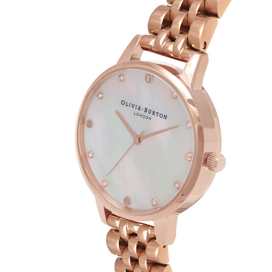 Blush Mother Of Pearl Demi Dial Rose Gold Bracelet Watch