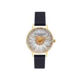 3D Daisy Black & Gold Watch