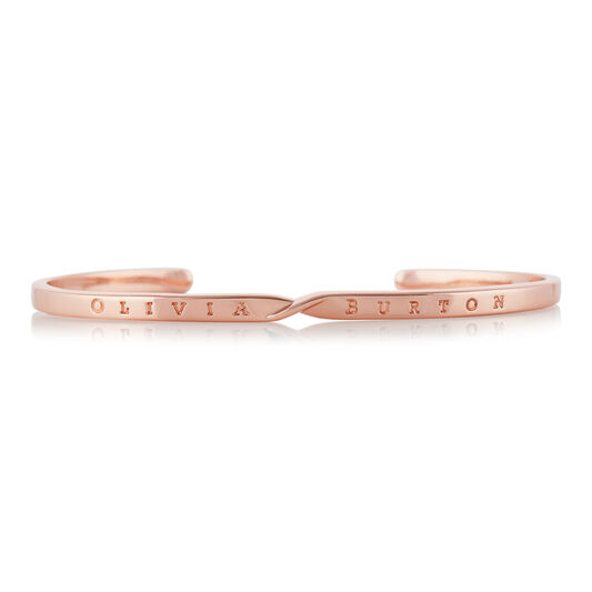 The Classics Rose Gold Twist Bangle