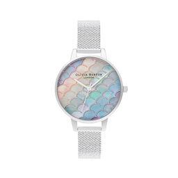 Mermaid Tail Demi Dial Silver Boucle Mesh Watch