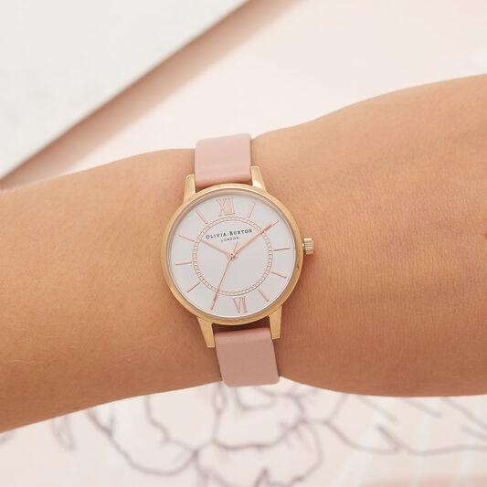 Wonderland Pink & Rose Gold Watch