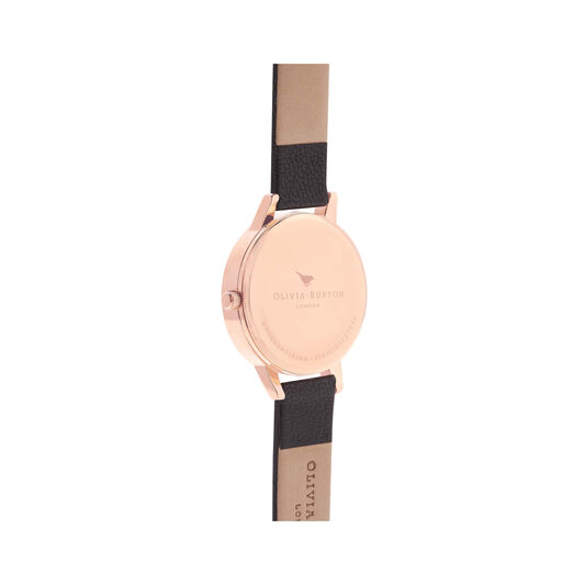 White Dial Midi Black & Rose Gold Watch