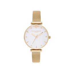 Queen Bee Gold Mesh Watch
