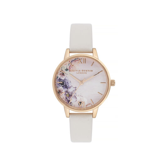 Watercolour Florals Blush & Rose Gold Watch