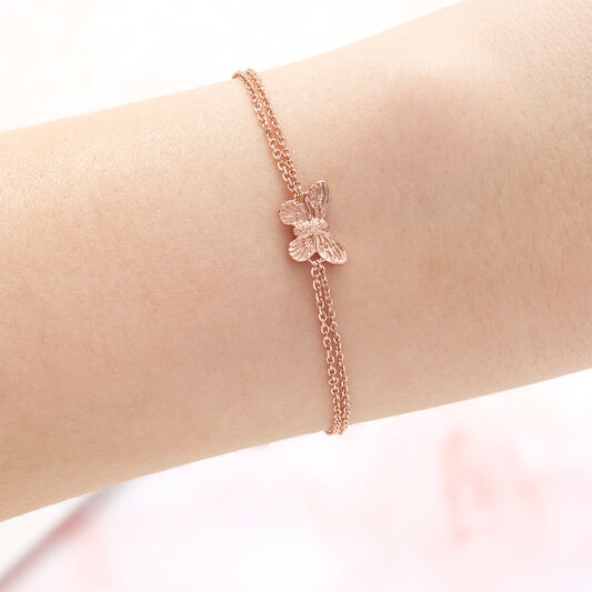 3D Butterfly Rose Gold Bracelet