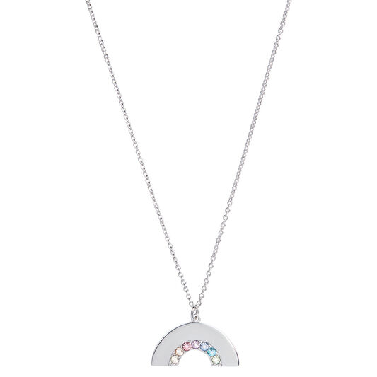 Rainbow Necklace Silver