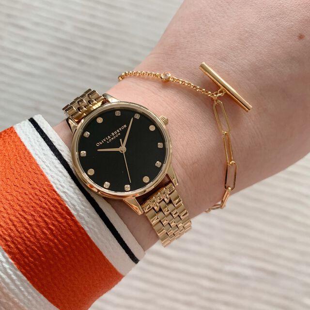 Classic Mismatch Tbar Gold Bracelet