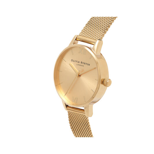 Sunray Gold Mesh Watch
