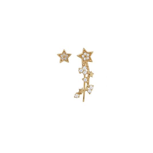 Celestial Crawler & Stud Gold Earring