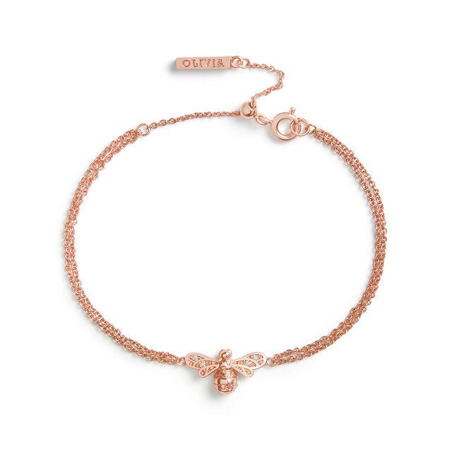 Sparkle Bee Rose Gold Chain Bracelet