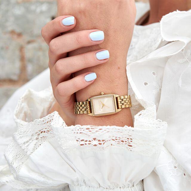 Gold Bezel Dial & Gold Bracelet Watch