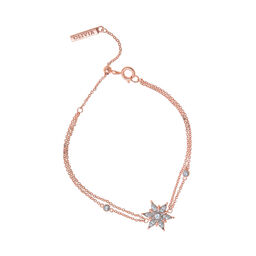 Snowflake Rose Gold Chain Bracelet