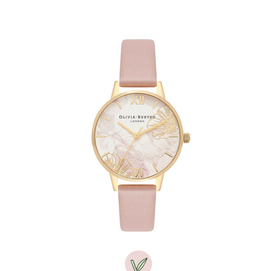 Abstract Florals Vegan Rose & Gold Watch