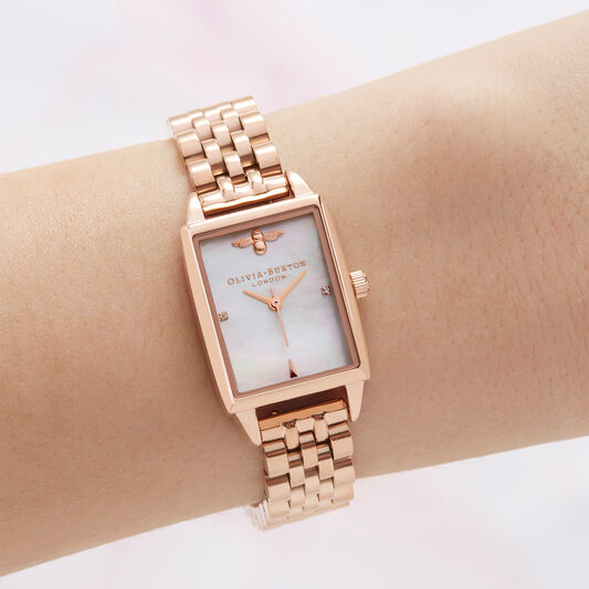 Bee Hive, Mother of Pearl & Rose Gold Watch