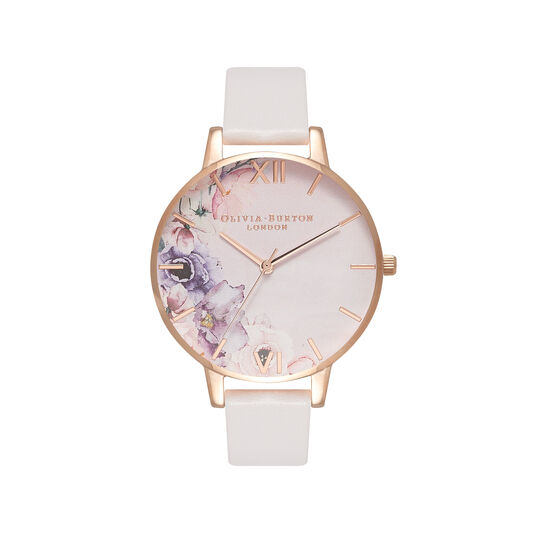 Watercolour Florals Blush & Rose Gold Watch